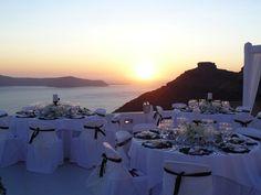 Sunset wedding Dinner