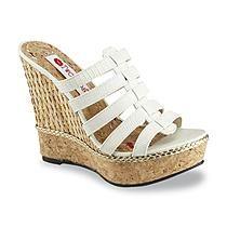 Two Lips brand Women's Ambrosia White Platform Wedge Sandal