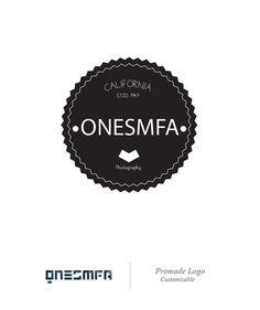 Custom Premade logo  Photography Logo Design  by ONESMFA on Etsy, $32.00