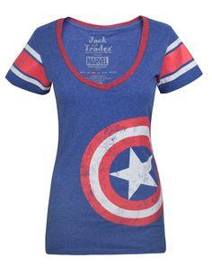 Jack Of All Trades Captain America Logo Jersey damska