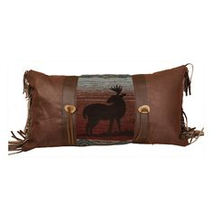 "14"" x 26""  Deer Meadow Rustic Wildlife Pillow By Wooded River"