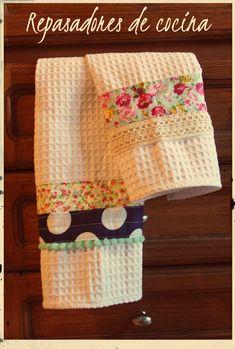 Repasadores de cocina 100% algodón decorados para vestir tu cocina!