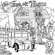 Free Scary Haunted House Coloring Pages To Print For Kids Description From Coloringtop