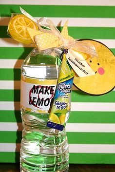 "Cute idea to give staff for School Counselors Week... ""When life gives you lemons... stop by to see your school counselor!"" :)"