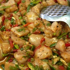 Chicken breast with peppers marinated with herbs and balsamico.