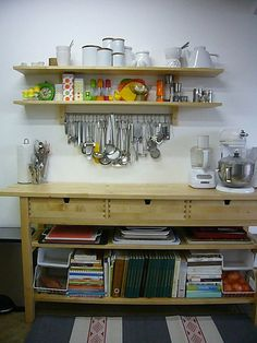 (my) IKEA VÄRDE Shelves & IKEA NORDEN Sideboard/Buffet  Where Our Culinary Genius Happens!, via Flickr.