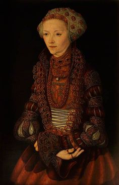 lucas cranach the elder(1472–1553), portrait of an unknown lady (formerly called 'sybille of cleves, wife of john frederick of saxony'), 1515. oil on panel, 55.5 x 37.5 cm. national trust, uk http://www.bbc.co.uk/arts/yourpaintings/paintings/portrait-of-an-unknown-lady-229382