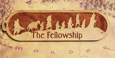 LOTR Style Bookmark, Lord Of The Rings Bookmark, The Fellowship,  Bookmark, Wood Bookmark by FinePenArt on Etsy