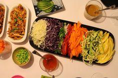 Birthday Dinners, Frisk, Seaweed Salad, Bon Appetit, Sweet Potato, Food To Make, Crockpot, Mango, Spaghetti