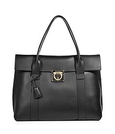 Black Leather Sookie Tote