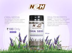 #ChiaSeeds #HealthBenefits One portion of Chia daily contains enough OMEGA 3 ALA to help  maintain normal #bloodcholesterol levels