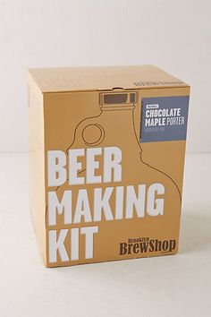 Gift Ideas: Beer making kit from Anthropologie. Perfect for that guy in your life #giftsunder50 #giftsformen