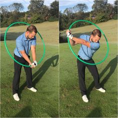 Set the Hula Hoop as shown on the first picture. Take the Hula Hoop back and maintain the position of the Hoop. If it falls behind or in front of you then you have come disconnected in your golf swing! Golf Driving Net, Golf Chipping Tips, Golf Score, Golf Putting Tips, Girls Golf, Golf Instruction, Golf Exercises, Golf Tips For Beginners, Golf Player