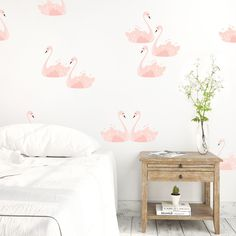 Pink Swans Wall Decals - The Project Nursery Shop