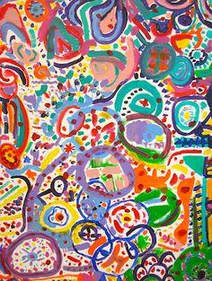 Art is Basic-- Art Teacher Blog: Third and Fourth grade collaborative circle paintings