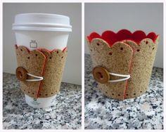 6. Cork - 11 Cute and #Creative DIY Cup Cozies ... → DIY [ more at http://diy.allwomenstalk.com ]  #Band #Depot #Fabrics #Drinks #Hot