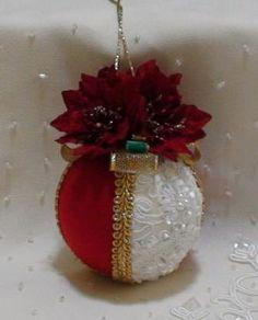 Shabby Chic Christmas Balls 22 by ShabbyChicXmas on Etsy