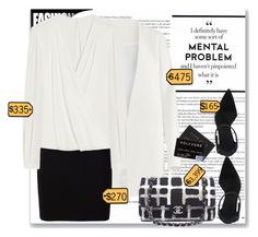 """""""-RICH-"""" by byjjbh ❤ liked on Polyvore featuring Non, T By Alexander Wang, Mulberry, Chanel, blackandwhite, Rich, polyvoreeditorial and GuruHunter"""