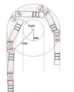 Figure 4.2 is a diagram illustrating the wheel paths and