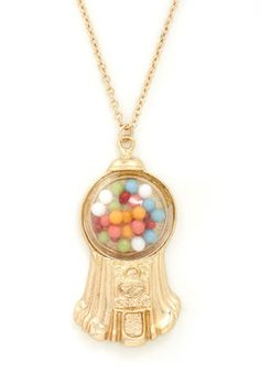 Belle of the Gumball Necklace, #ModCloth