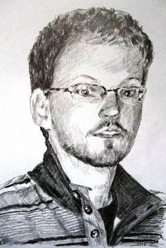 Peter Pavluvčík - portrét - kresba.