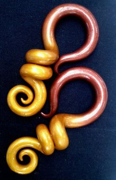 Color Fade Question Mark Earrings - Earrings for Stretched Lobes - Gauges