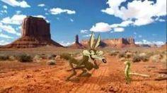 Wile E. Coyote meets the Geico Gecco