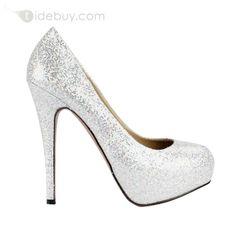 Brillante Chaussure de Mariage PU Dessus Bout Fermé Talon Aiguille