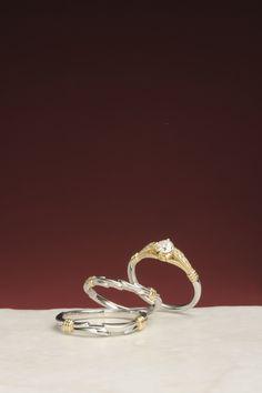 婚約指輪:白詰草-しろつめくさ- ~幸せの記憶~  / 結婚指輪:花冠-はなかんむり- ~花冠を 素敵なあなたに~