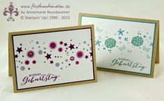 Stampin' Up! by First Hand Emotion: Perpetual Birthday Calendar und Schmetterlingsgruss