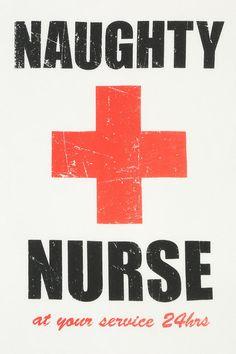 Corner Shop Naughty Nurse Tee