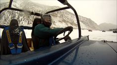 Drive on a frozen lake.