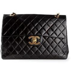 CHANEL VINTAGE 'Chanel' quilted shoulder bag found on Polyvore