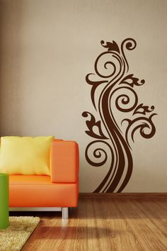 Swirls Graphic wall decal by WALLTAT.com