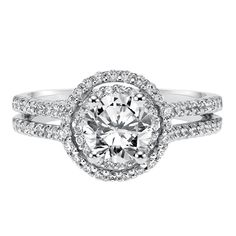 Vintage inspired round and marquise bezel set halo diamond engagement ring with milgrain accents and straight double row shank with diamond accents by ArtCarved Bridal. Timeless Engagement Ring, Vintage Inspired Engagement Rings, Halo Diamond Engagement Ring, Engagement Ring Settings, Wedding Ring Bands, Fashion Rings, White Gold, Jasmine, Bridal