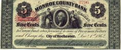 Obsolete bank note & private scrip issued by State ~ New York