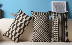 black and white pillows nordic - Szukaj w Google