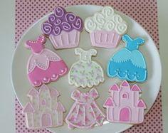 Biscoitos decorados Princesas