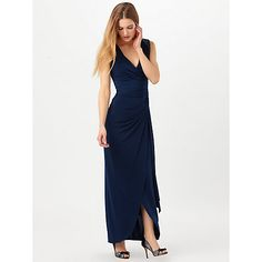 Buy Phase Eight Annoushka Wrap Front Dress, Navy Online at johnlewis.com