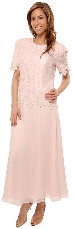 The Evening Store Tea length mother of the bride pink Plus & Regular Sizes at Amazon Women's Clothing store: