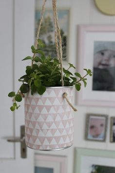 Huset ved fjorden: DIY: Hengepotte