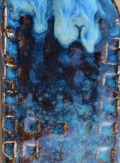 Blue Hare or Floating Blue w/opalescence and very blue. Amount Ingredient Nepheline Syenite 27 Gerstley subbed with Frit 169 Silica Kaolin--EPK 100 Total Additives 2 Bentonite 4 Rutile 2 Iron Oxide--Red 1 Cobalt Oxide Glazes For Pottery, Ceramic Pottery, Pottery Art, Pottery Ideas, Ceramic Techniques, Pottery Techniques, Glazing Techniques, Clay Studio, Ceramic Studio