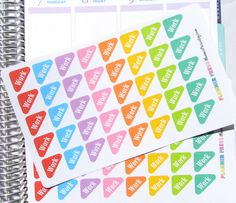 Work Rounded Corner Flags Font One Planner Sticker by PlannerPress