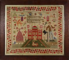 Lot 261 – A William IV Sampler by Rachel – Period Oak, Country Furniture, Carvings, Paintings & Effects 26 Feb 2012