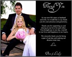 Wedding thank you card etiquette, Thank you card template, What to write in a wedding thank you card