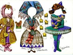East German Josephine Paper Doll - outfits