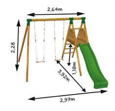 Kids Backyard Playground, Backyard Swing Sets, Backyard For Kids, Cool Playgrounds, Outdoor Play Structures, Outdoor Furniture Plans, Kids Play Area, Play Houses, Mauna Loa