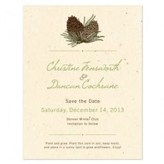 Pinecone Save the Date Cards