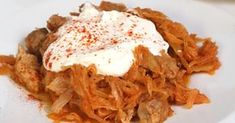Hungarian Recipes, Main Dishes, Cabbage, Bacon, Spaghetti, Food And Drink, Chicken, Meat, Vegetables