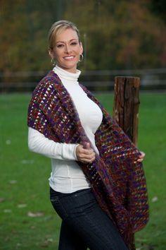 The Ultraviolet Lace Stole Free Crochet Pattern